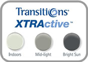 Transitions XTRActive Photochromic Eyeglass Lenses