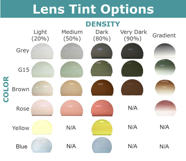 Select your lens tint color