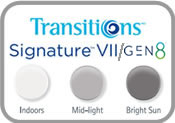 Transitions 7 & 8 Photochromic Eyeglass Lenses
