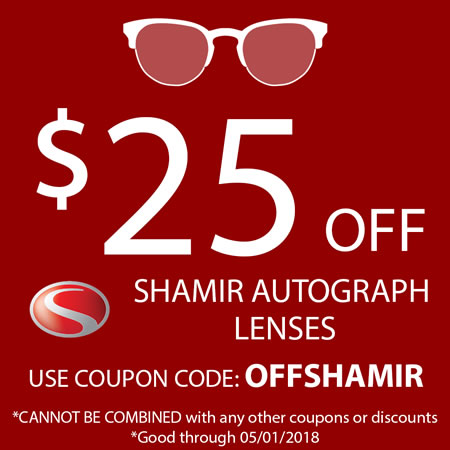 Save on Shamir Series Progressive Lenses!