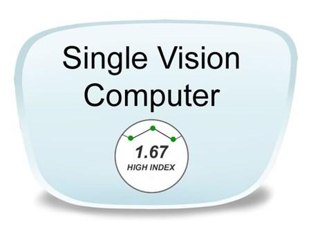 ed51739109 Single Vision High Index 1.67 Computer Blue Blocking Prescription ...