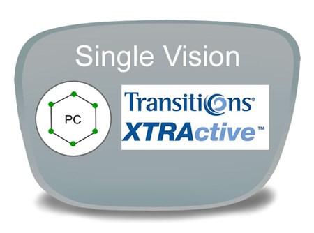 355ecdbf76 Single Vision Polycarbonate Transitions XTRActive Prescription ...